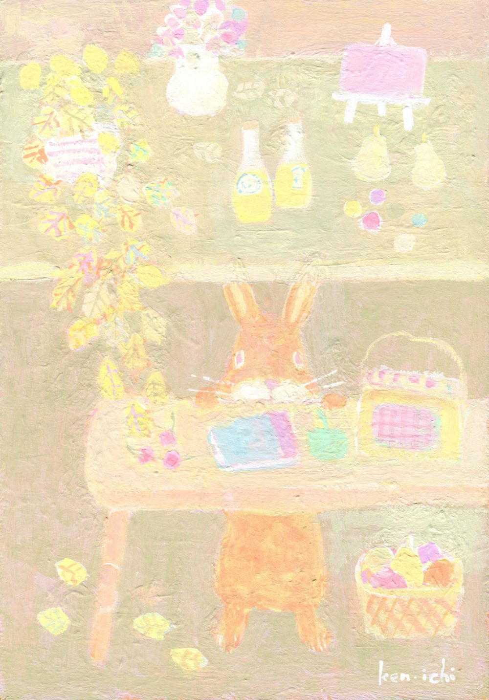 ウサギの絵